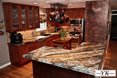Kitchen Islands Granite Top 6cm Leathered Magma Gold Granite Kitchen Install 187 Yk