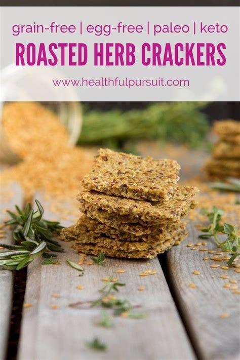 whole grains keto egg free roasted herb crackers grain free vegan paleo