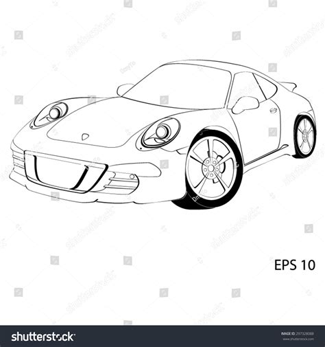 logo porsche vector sports car porsche 911 vector illustration stock vector