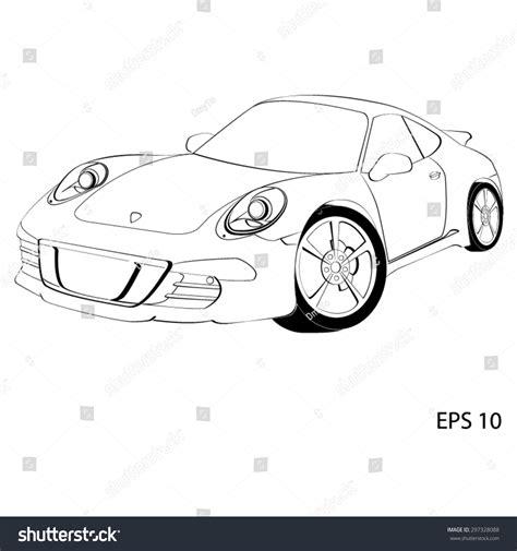 logo porsche vector sports car porsche 911 vector illustration stock vector