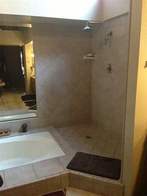 Doorless Shower Small Bathroom Doorless Shower Bathroom Pinterest