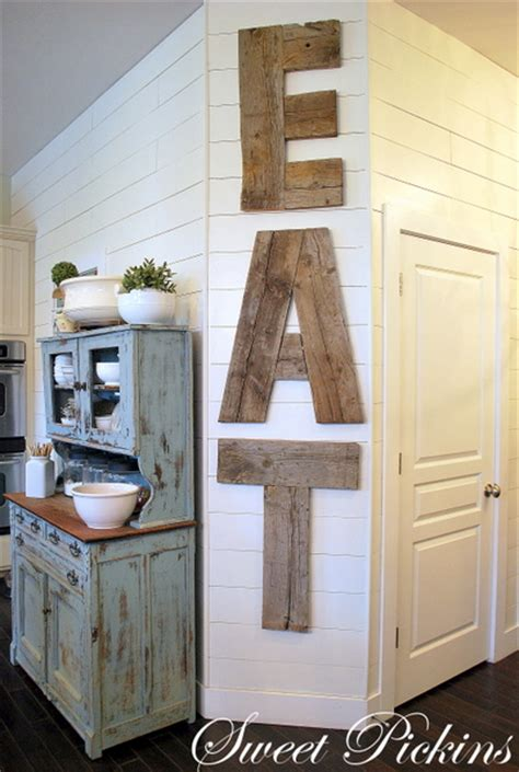 be different act normal diy reclaimed wood kitchen sign eat