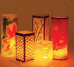 How To Make Paper Floating Lanterns - supplies at blick materials supply store