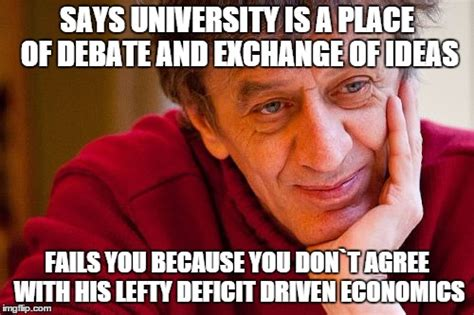 Economics Meme - really evil college teacher meme imgflip