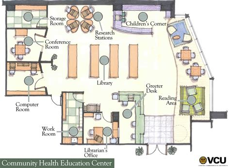 community health education center vcu floor plan