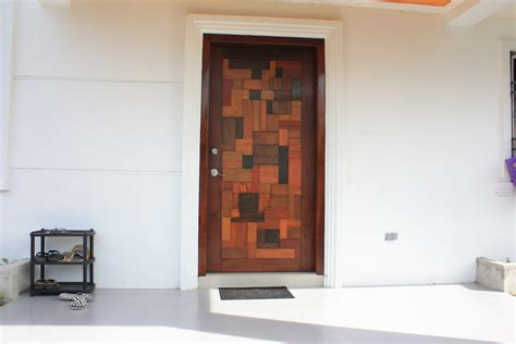 Attractive Front Doors Attractive Contemporary Front Doors With Single Wooden Entrance Door And Unique Mosaic Door