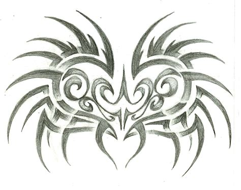 heart with tribal tattoos images designs