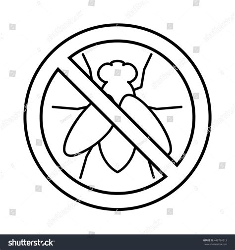 No Outline by No Fly Sign Icon Outline Style Stock Illustration 446794213