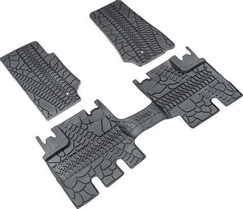 jeep slush mats mopar 82210166ac floor slush mats with tire tread pattern