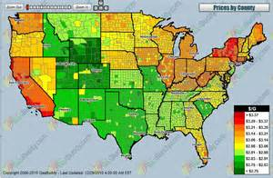 gas prices map
