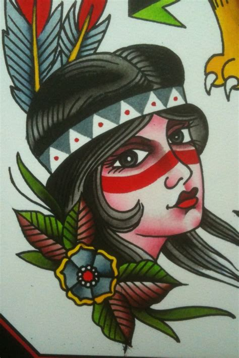 old school tattoo indian girl indian girl tattoo design inked pinterest