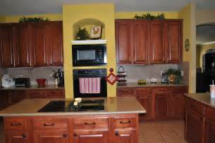 yellow kitchen walls home