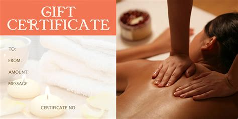 Massage Gift Card Template - gift certificate template 34 free word outlook pdf indesign format download