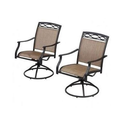 Sling Swivel Rocker Patio Chairs Outdoor Furniture Chair Patio Deck Garden Pool Sling Swivel Rocker 2 Chairs Ebay
