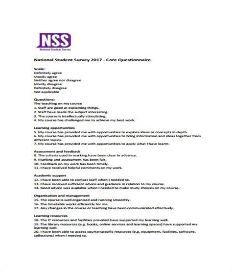student survey template 17 survey templates word pdf documents