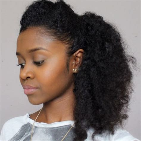 hairstyles for big poofy curly hair hot selling afro puff curly human hair ponytail for black