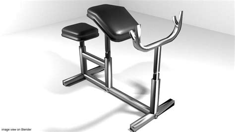 modells workout bench exercise machine armcurl bench 3d model obj 3ds lwo lw lws