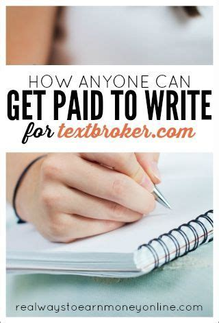 Get Paid To Write - how anyone can get paid to write for textbroker around