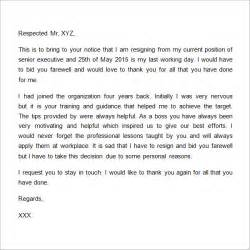 Thank You Letter Regards Resignation Letter Format Useful Templates Thank You Letter To After