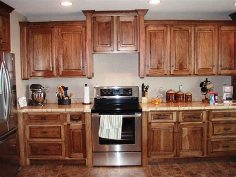 Easy And Cheap Home Decor Ideas by Hickory Kitchen Cabinets Natural Characteristic Materials