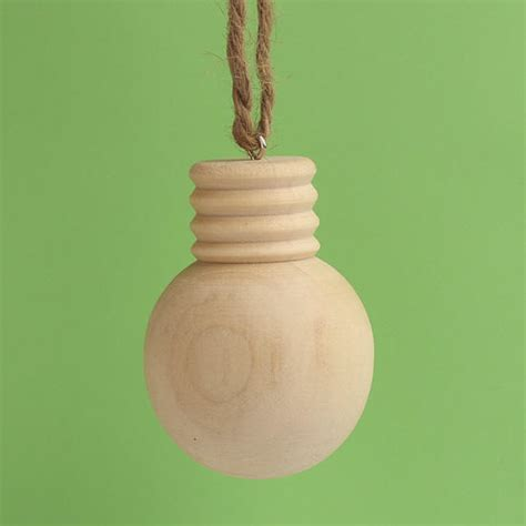 unfinished wood light bulb ornament christmas ornaments