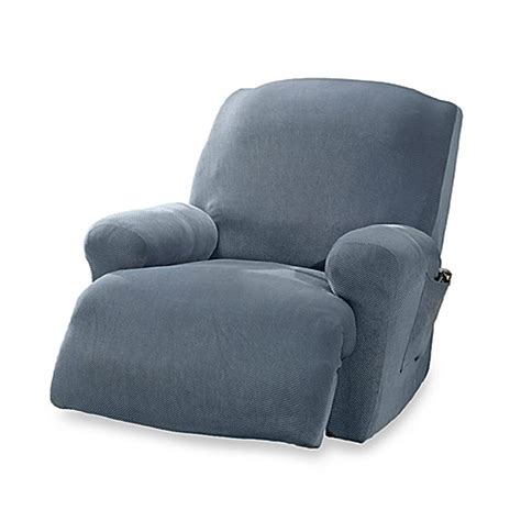 blue recliner slipcover stretch pique federal blue recliner slipcover by sure fit