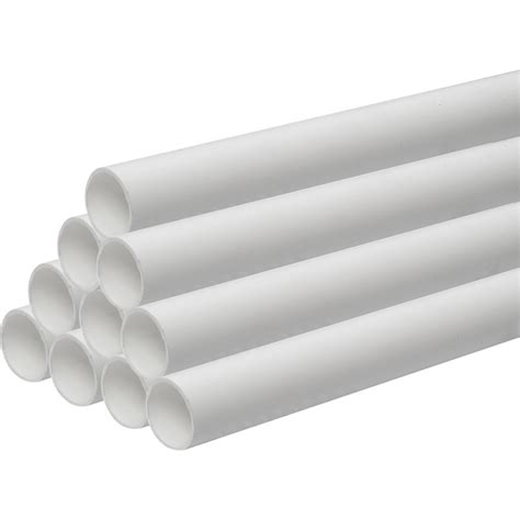 White Plumbing Pipe solvent weld waste pipe 30m 40mm x 3m white toolstation