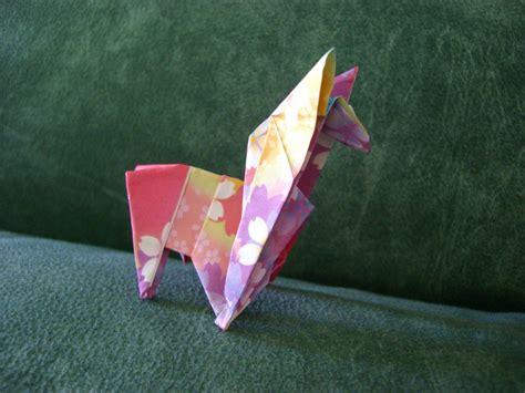 Llama Origami - rainbow llama origami by shroomsfromhell on deviantart