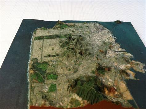 san francisco map altitude elevation map of san francisco michigan map