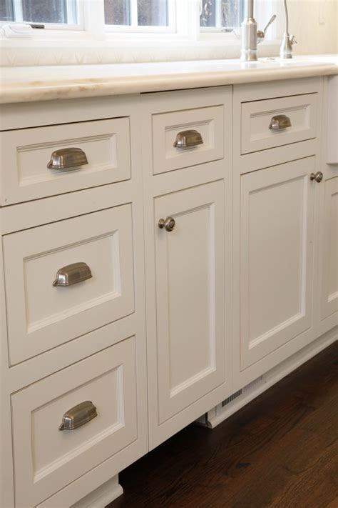 Custom White Kitchen Cabinets With Brushed Nickel Hardware