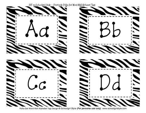 zebra label templates for word animal adventure schoolgirl style