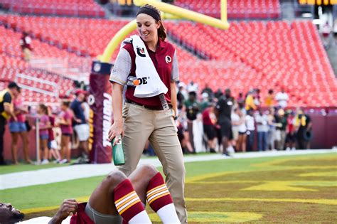athletic trainer just one of the guys at redskins c george