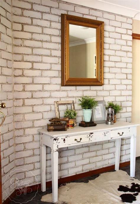 transform  brick wall  milk paint hometalk