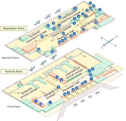 Atlanta Airport Floor Plan by Phuket Airport Terminal Map Phuket Airport Guide