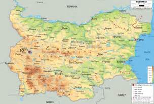 physical map of bulgaria ezilon maps