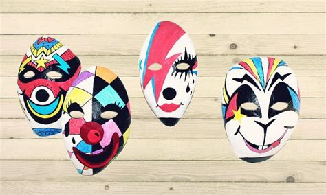 Things To Make With Paper Mache - make a paper mache mask kidspot