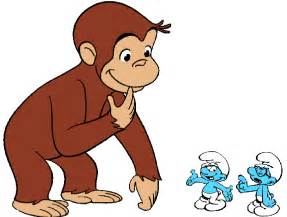 curious george smurfs inches