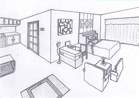 sketch of a bedroom bedroom sketch 2 0 by cornerart on deviantart