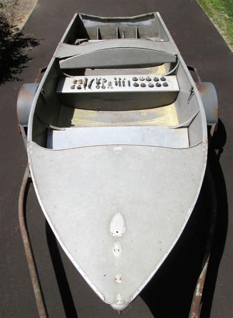 runabout fishing boat conversion 1950 vintage wolverine wagemaker dual cockpit rear steer