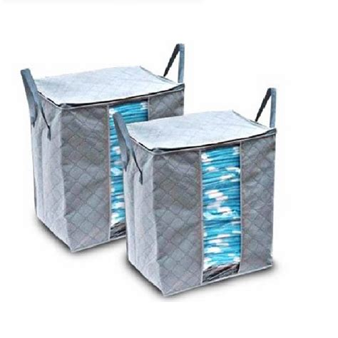 Clothes Storage Bag Organizertempat Penyimpanan Pakaian Baju Jual Clothing Storage Bag Bamboo Fibre Storage Box