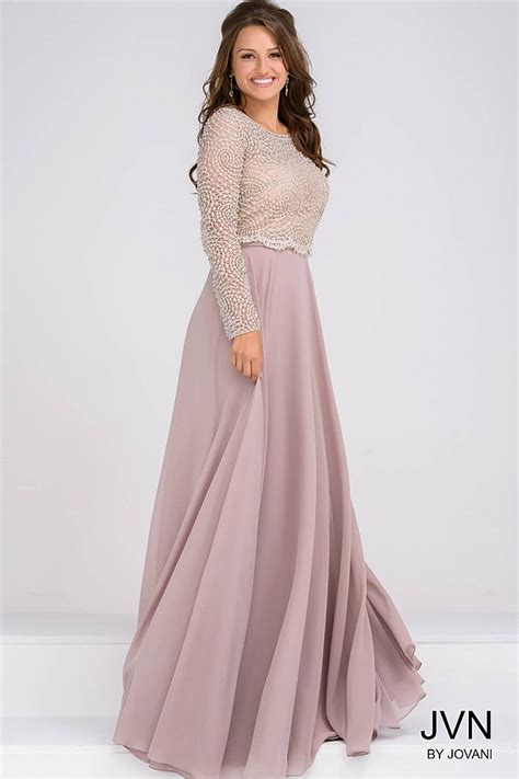 Sleeve Chiffon Dress sleeve beaded bodice and chiffon skirt evening