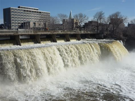 rideau falls waterfall in ottawa thousand wonders