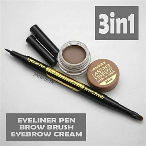 Pensil Alis Landbis landbis eyebrow gel 3 in1 with eyeliner brush candramart