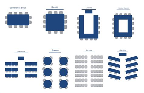 seminar seating layout state system center city meeting services