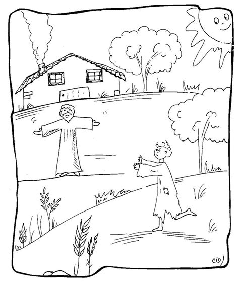 prodigal coloring page search results for parable of the prodigal printables