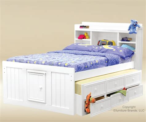 full bed with trundle and storage kids trundle beds kids furniture ideas