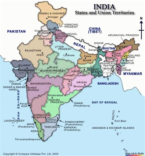 indian states india states and union territories map india mappery