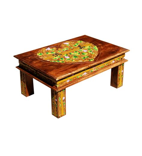 rajputana mango wood coffee table with mudramark by