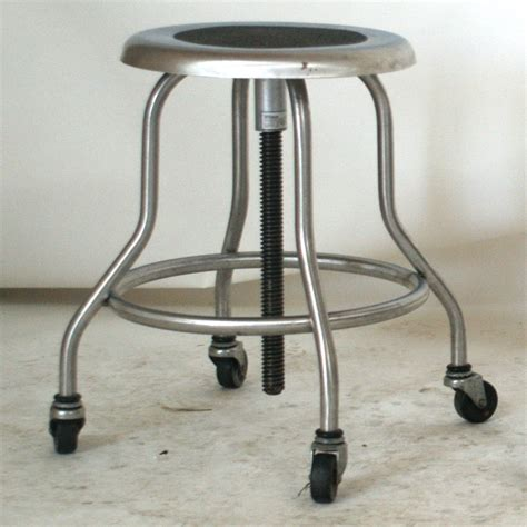 Stainless Steel Adjustable Stool by 1 Industrial Wilson Stainless Steel Adjustable Stool
