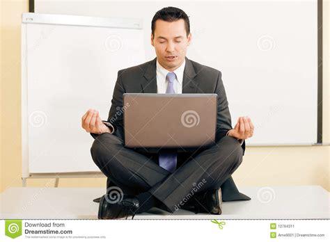 meditation upon desk stock image image 12764311